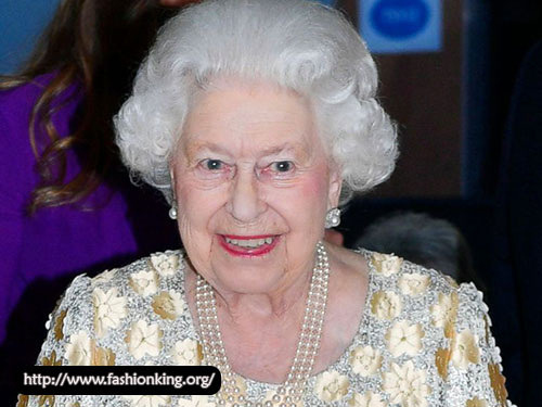 Queen Elizabeth's Elegant Dress with Golden Dress at 92nd Birthday