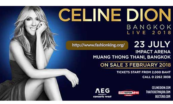Celine Dion To Perform in Bangkok Asia-Pacific Summer Tour