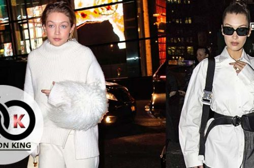 Views Model Stylish Bella Hadid Wearing White Color